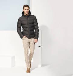 Мужская стеганая куртка SOL'S RIDLEY MEN, Черная, 5 размеров, код 01622