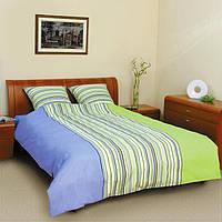 """Комплект п/б """"Колорит""""  """"Premium collection"""" двухспальний (523 лілія синьо-зелена)"""