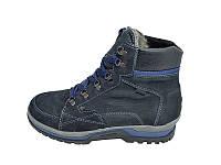 Мужские ботинки зимние с нат. кожи на меху New Style 401 Blue размеры: 40 41 42 43 44 45