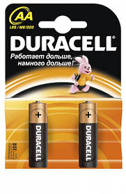 Батарейки алкалиновые DURACELL Basic AA 1.5V LR6 2шт