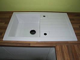 Мийка кухонна керамічна Sarreguemines 500 мм х 860 мм + подрібнювач
