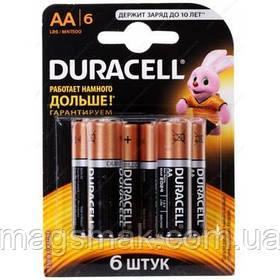 Батарейки алкалиновые DURACELL Basic AA 1.5V LR6 6 шт