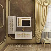 Комплект мебели Marsan Dominic белый(черный)100см