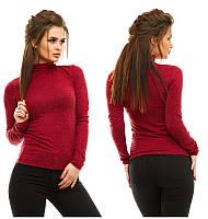 Женский кашемировый теплый гольф под горло +цвета