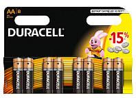 Батарейки алкалиновые DURACELL Basic AA 1.5V LR6 8 шт