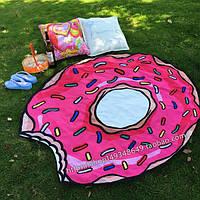 Пляжный коврик в виде пончика
