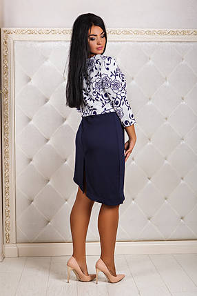 ДТ1170 Платье с накидкой-обманкой размеры 50-56, фото 2