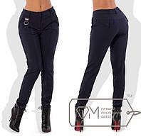 Теплые зауженные брюки