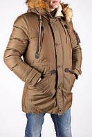 Купить куртку парку Dsquared цвета хаки в Киеве