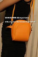 Женская мини сумочка через плечо с бантиком