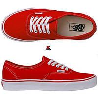 Кеды Vans женские красные