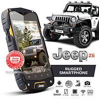 "Смартфон Телефон Бронированный Jeep Z6 Orange IP68 Экран 4"" ОЗУ/ПЗУ 1 / 4 Камера 8 / 1 SIM 2 Аккумулятор 2500 mAh"