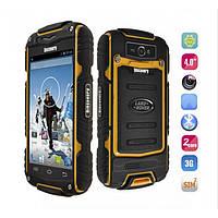"Смартфон Телефон Бронированный Land Rover Discovery V8 Yellow IP56 Экран 4"" ОЗУ/ПЗУ 512 / 4 Камера 5 / 0.3 SIM 2 Аккумулятор 2800 mAh"