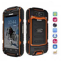 "Смартфон Телефон Бронированный Land Rover Discovery V8 Orange IP56 Экран 4"" ОЗУ/ПЗУ 512 / 4 Камера 5 / 0.3 SIM 2 Аккумулятор 2800 mAh"