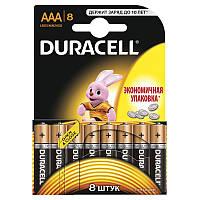 Батарейки алкалиновые DURACELL Basic AAA 1.5V LR03 8 шт