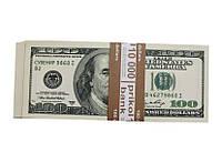 Пачка денег, сувенирные деньги 100 долларов