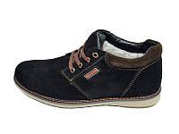 Мужские ботинки зимние с нат. кожи замш на меху Braxton Stael 362 Black размеры: 40 41 42 43 44 45