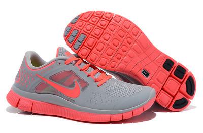 Женские кроссовки для бега Free Run 3 Серые с коралловым оригинал - MILEY  Шоурум стильных образов d1b411d62f9