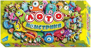 Игра детская настольная Лото Монстрики