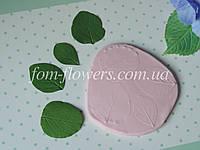 Молд лист Снежеягодника, реалистичный, фото 1