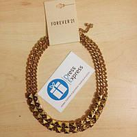 Ожерелье подвеска Forever21 золотая с шипами