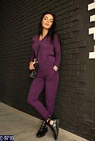 Стильный бордовый  бесшовный вязаный женский спортивный костюм кашемир   Арт-15066