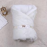 """Зимний конверт """"Шарлота"""" для новорожденных (айвори)"""