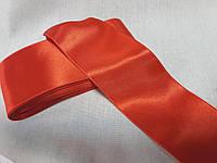 Стрічка атласна  двостороння 6,6 см на метраж,червона