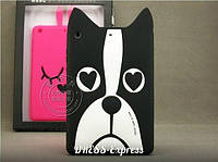 Чехол ipad mini черно-белый собака