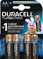 Батарейки алкалиновые DURACELL TurboMax AA 1.5V LR6 4 шт