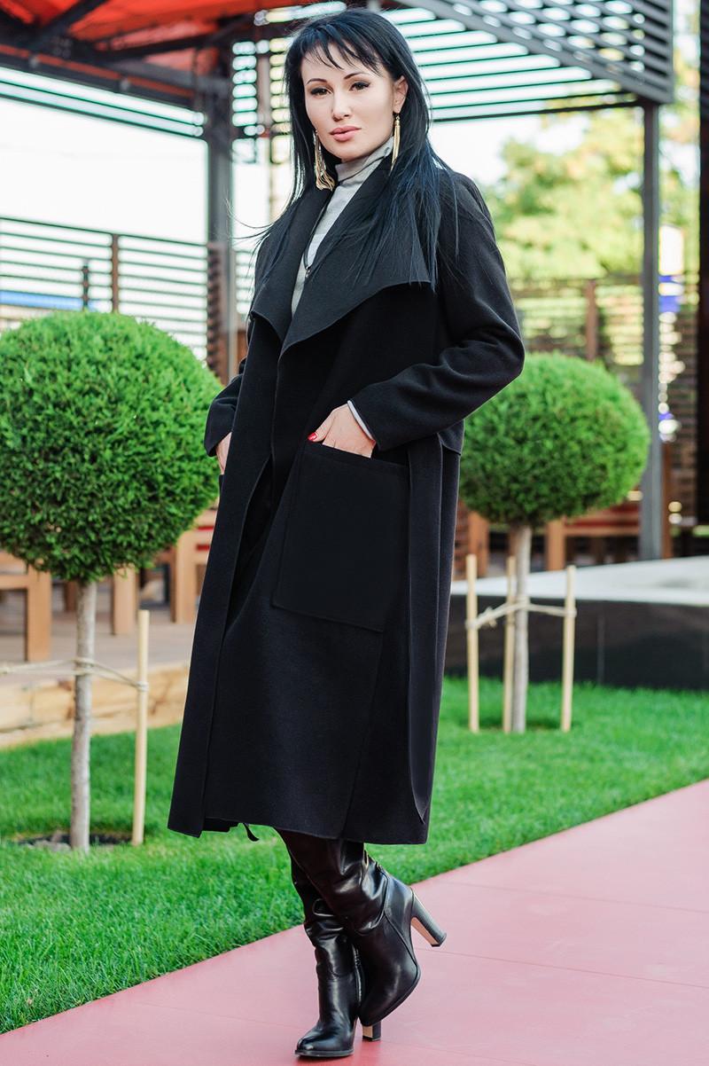 "Чорне демісезонне пальто ""Барселона"""