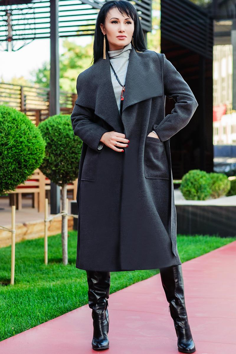 """Демісезонне пальто """"Барселона"""", графіт"""