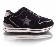 Кроссовки со звездой из блесток Violeta