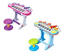 Детский синтезатор BB45BD, музыка, свет, USB, MP3