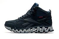 Зимние мужские кроссовки Reebok Gore Tex, на меху, темно-синие, р.  42