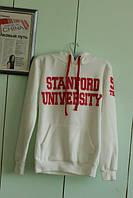 Спортивная кофта с капюшоном Stanford Univesity толстовка белая