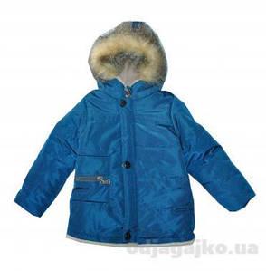 """Куртка для мальчика с мехом на капюшоне """"Одягайко"""" демисезонная , фото 2"""
