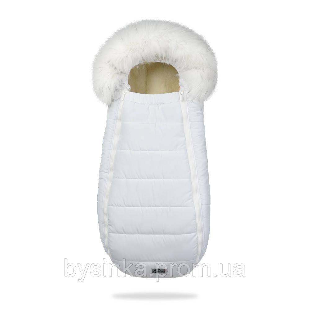 Зимний, детский конверт-кокон на овчине Baby XS - 100 % овечья шерсть