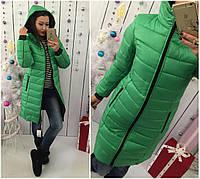 женский пуховик пальто зеленый 46,48,50,52,54
