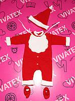 Комплект детский Новогодний 356 футер флис