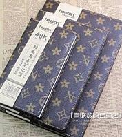 Блокнот LV коричневый винтаж ежедневник дневник с желтыми страницами