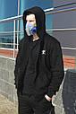 Худи мастерка мужская черная Кронос (Kronos) от бренда ТУР размер S, M, L, XL, XXL, фото 6