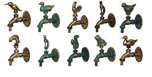 Крани декоративні садові. Крани для турецької лазні. Для садових фонтанів
