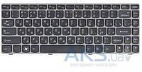 Клавиатура для ноутбука Lenovo Ideapad Z450 Z460 Z460A Z460G RU, (25-010875) Gray/Black