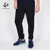 Теплые мужские спортивные штаны с начесом цвет черный бренд Red and Dog