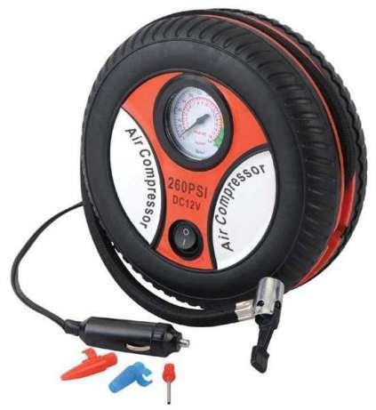 Автомобильный компрессор  DC12V1, работает от прикуривателя, с манометром, компактный, насосы дл автомобиля