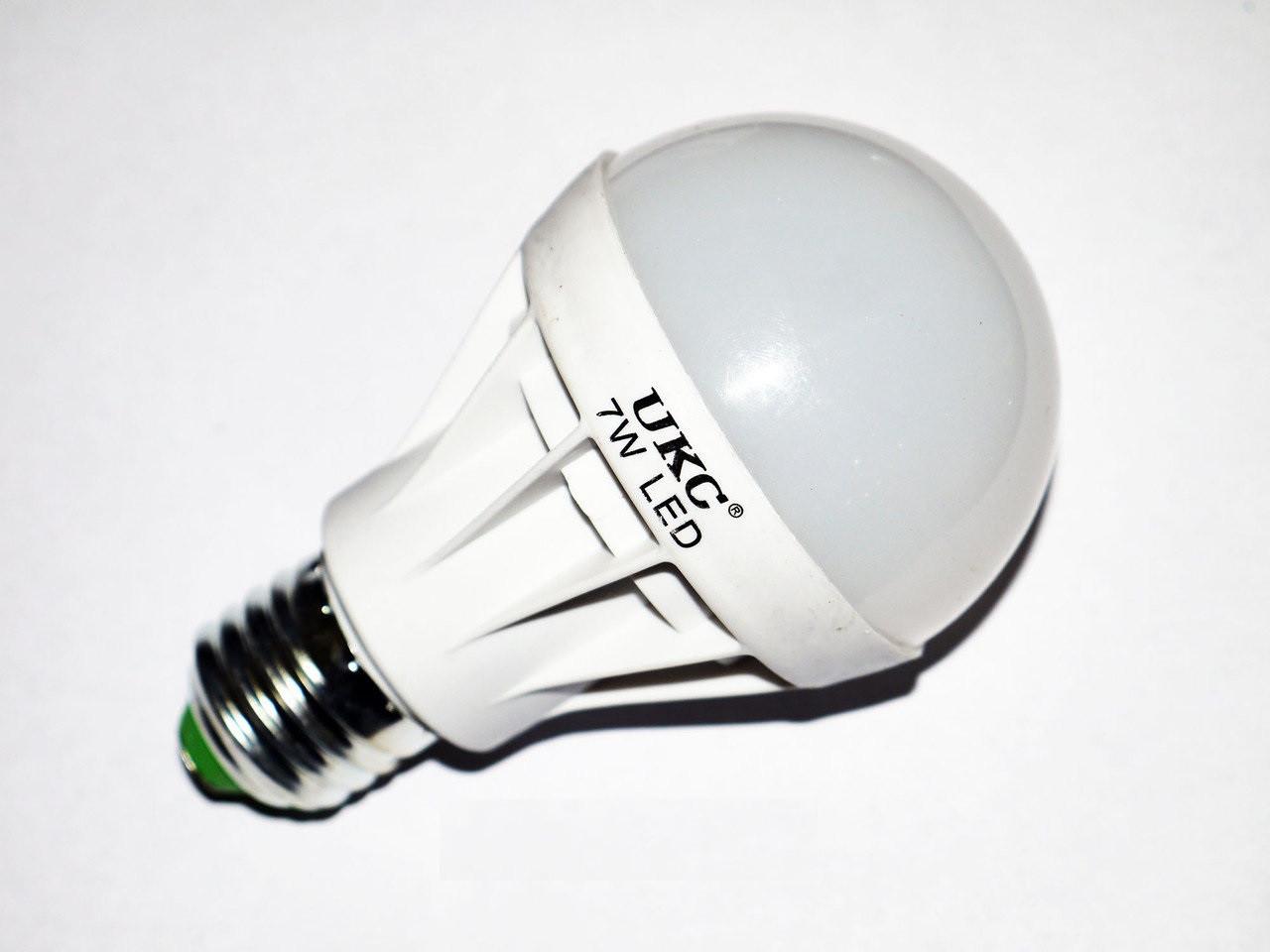 Лампочка сетодиодная 7W UKC, белый свет, экономная, не греется, ярко светит, экономия электрики