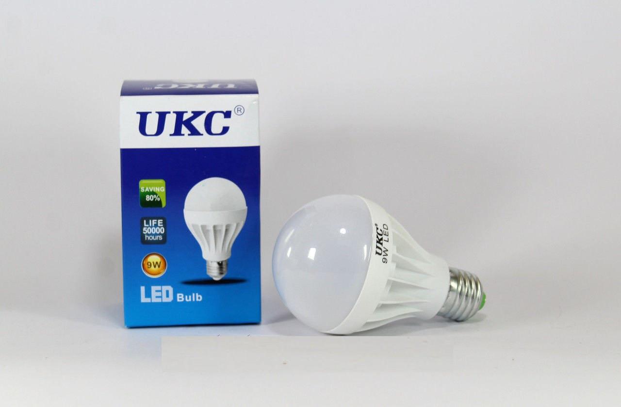 Лампочка светодиодная 9W UKC, экономия электричества, яркий свет, не нагревается, малое потребление света