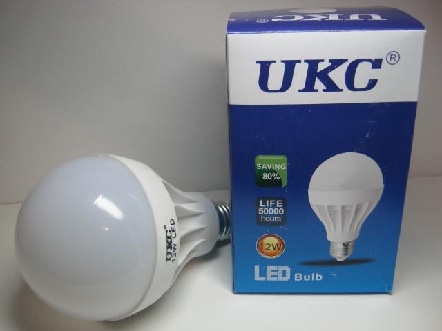 Светодиодная энергосберегающая лампочка 12W UKC, яркий свет, 18 диодов, экономная, не нагревается