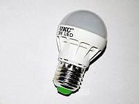 Лампочка светодиодная 3W UKC, белое свечение, экономия электричества, не греется, энергосберегающая лампа